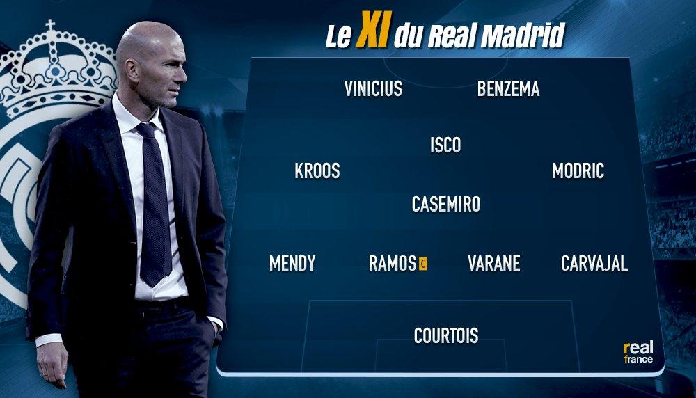 Le XI #OFFICIEL du Real Madrid.