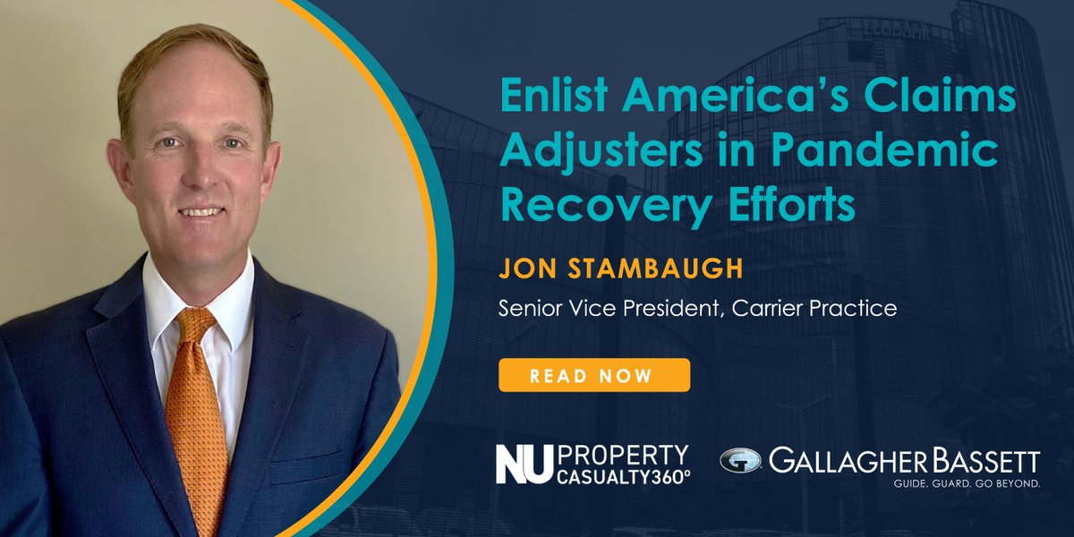 Mitigating the impact of #COVID19 by ensuring American businesses can access the relief they need will require cooperation and partnership. Jon Stambaugh discusses why we need to enlist Americas claims adjusters in pandemic recovery efforts in @PC_360. bit.ly/2ApFWDr