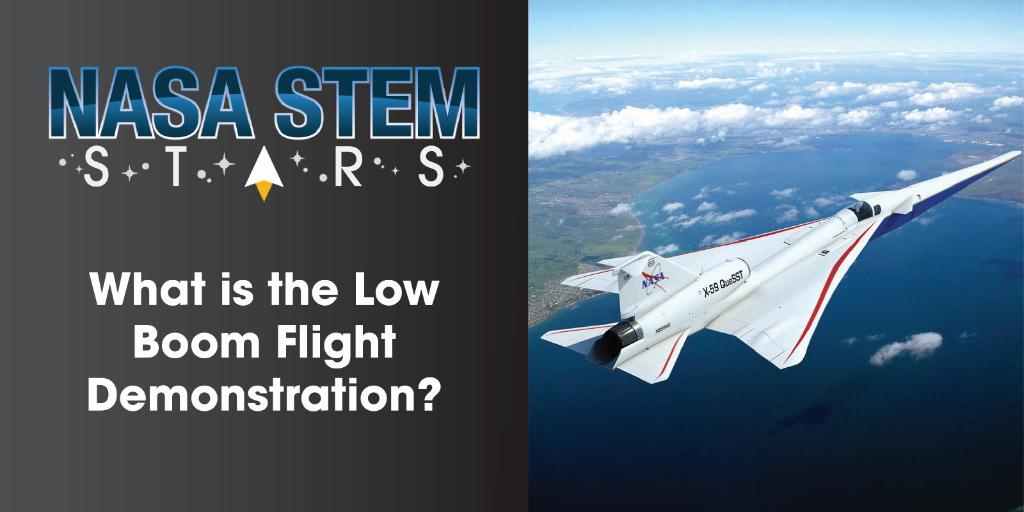 What is it like to manage a project @NASA? Find out as NASA STEM Stars is joined by Project Managers for the Low Boom Flight Demonstration Heather Maliska and Cath Bahm✈️ 📺Tune in Monday, July 6 at 12:30 p.m. ET and ask your questions! youtu.be/GVCen6bxQ20