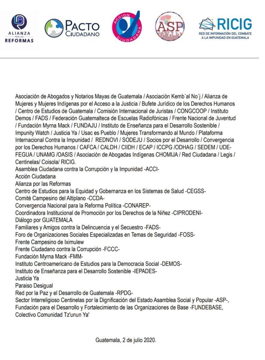 """test Twitter Media - Distintas organizaciones sociales y de Derechos Humanos, señalan en un comunicado los riesgos de un """"quiebre institucional en Guatemala"""". https://t.co/Kc4QiBL39q"""