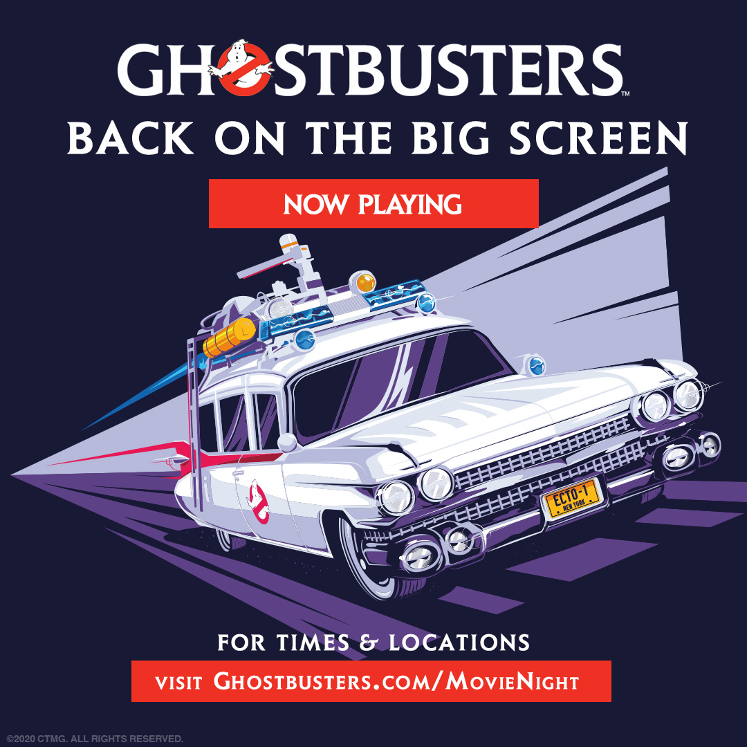 Jump in your Ecto-1 and spend the weekend with #Ghostbusters, back in theaters and drive-ins now!  Find your location: https://t.co/m2ioai19Jh. https://t.co/rOJ5FgI69O