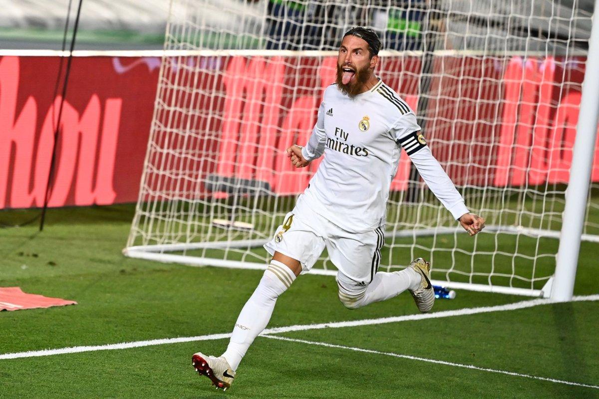 راموس يقود ريال مدريد للفوز على جاره خيتافي و يبتعد بالصدارة