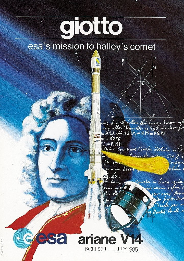 Speaking of Giotto, here is the launch poster... #V14 #CSG #Giotto #ESA https://t.co/sBiV9b1LI4