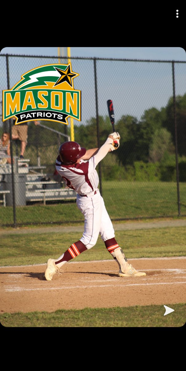 I am blessed to announce that I am going to further my academic and athletic career at George Mason University @MasonBaseball @STARSBASEBALLVA @MtViewBaseball https://t.co/oP359cyQvS