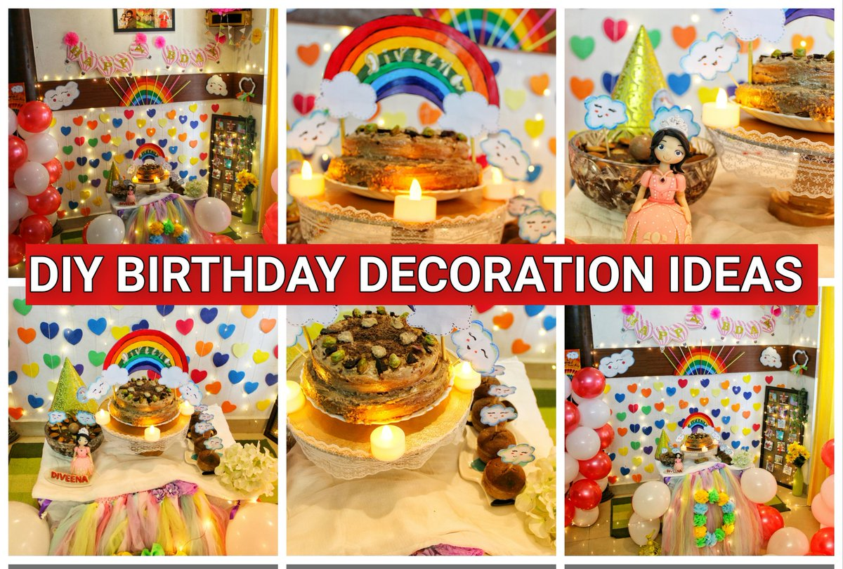 DIY BIRTHDAY DECORATION IDEAS   Full video on https://youtu.be/mwYtctRfP9Mpic.twitter.com/RRvVaWnHGh