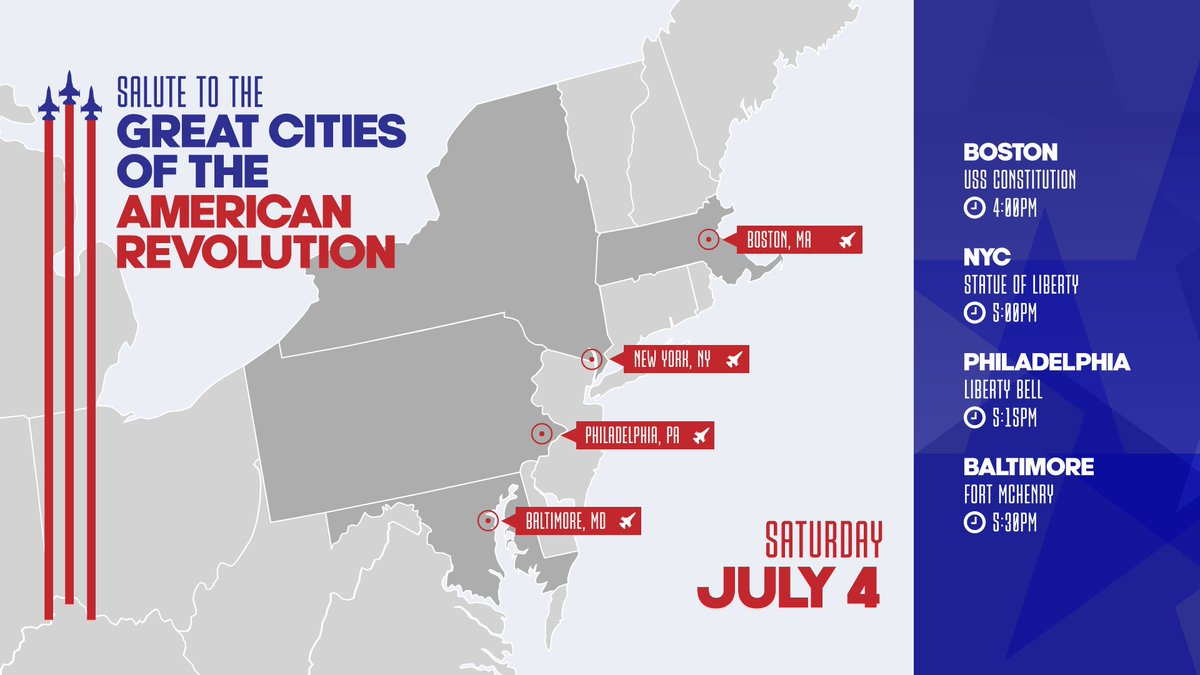 .@DeptofDefense supporting #2020SaluteToAmerica! Flying over #Boston, #NYC, #Philly, #Baltimore, #WashingtonDC & #MountRushmore. See maps: https://www.northcom.mil/Newsroom/Press-Releases/Article/2246257/dod-support-to-salute-to-america-2020/ …pic.twitter.com/UtgAnXLVfb