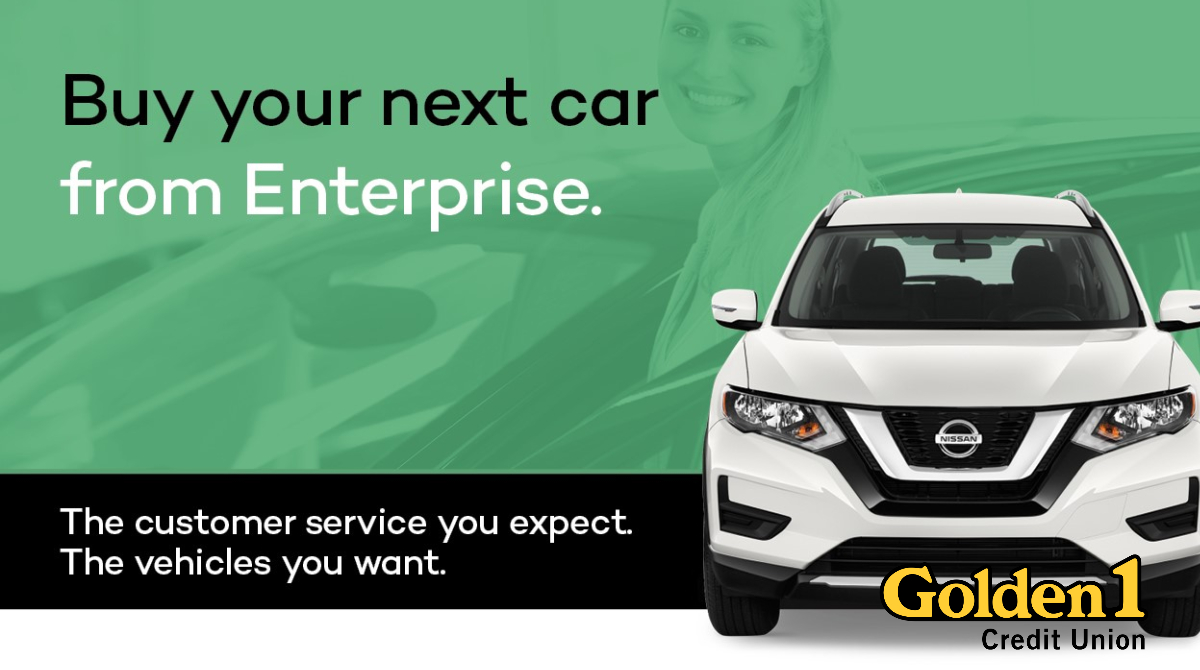 Our friends at Enterprise have a special offer exclusively for Golden 1 members. Finance with us and receive a 1% discount on your rate. Bring a trade in with you and receive KBB Trade-in-Value plus $1,000 until July 12. For details, visit: https://t.co/xfSSyE1PXZ https://t.co/ogWWr5JZAS