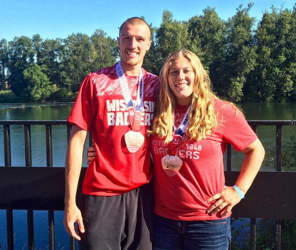 #ThrowbackThursday to the 2016 U.S. Olympic Trials when Zach Ziemek and @KelseyCard27  both qualified for the 2016 Rio Olympics! https://t.co/INF7OdzGvl