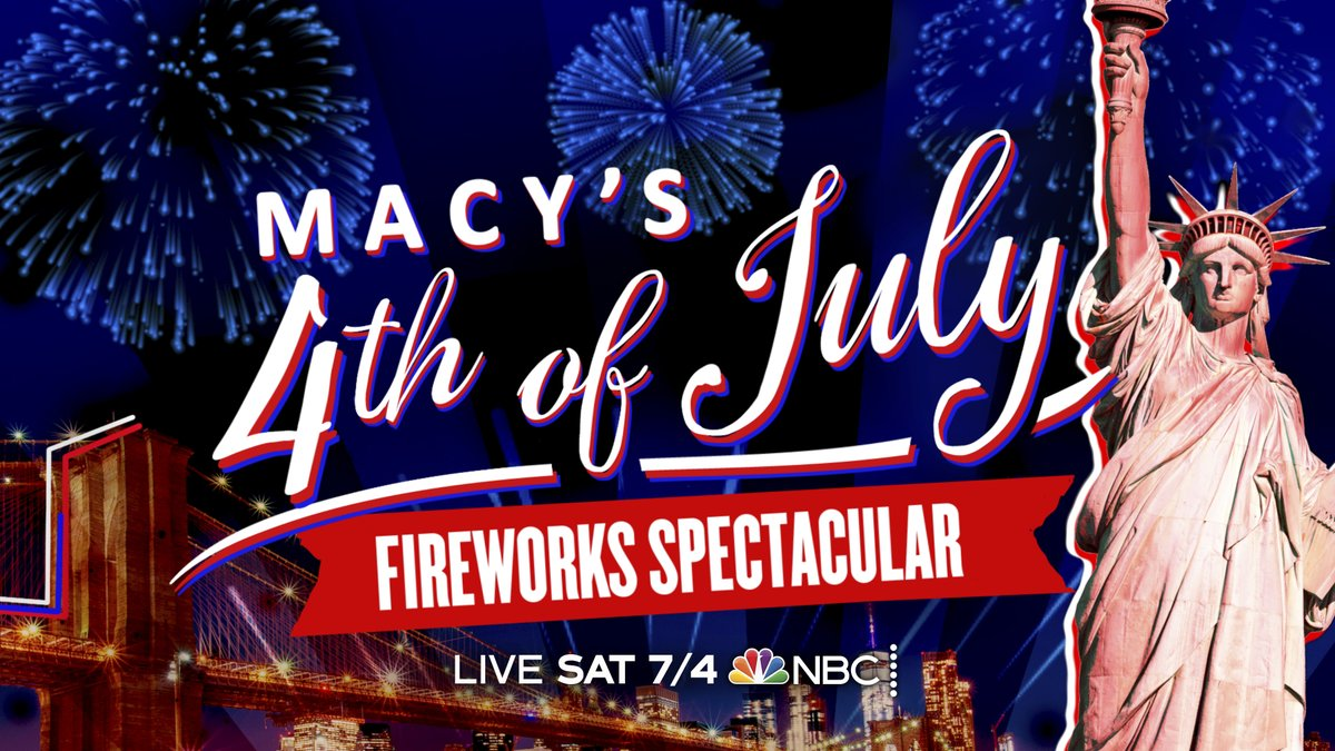 🎆 Join us for tonight's #MacysFireworks celebration hosted by @craigmelvin and @DylanDreyerNBC, LIVE at 8/7c on NBC. 🎆 https://t.co/XX4d0J42xo