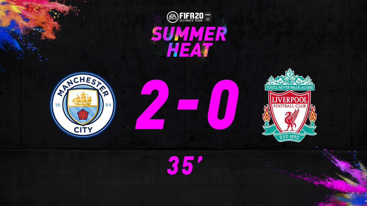 A magnificent counterattack sees last years champions double their lead on this years! @ManCity are up 2-0 and thirsty for more The man himself Phil Foden having an influence in #2 -- and hes a goal closer to a +3 OVR boost for his 92 OVR #SummerHeat special item in #FUT20 🔥