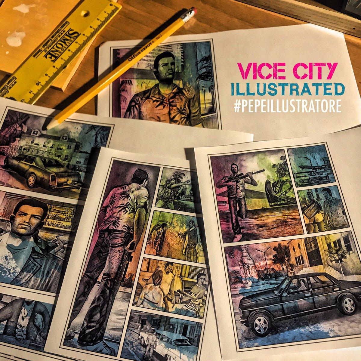 VICE CITY ILLUSTRATED Sketchbook Illustrations Collection #gta #maionese #illustrator #art #popart #book #color  #vercetti #graphic #miami #vicecity #pepeillustratore #gtavicecity #love #moleskine #rockstargames #auto #grandtheftauto #miamivice pic.twitter.com/Gmg2wPC733