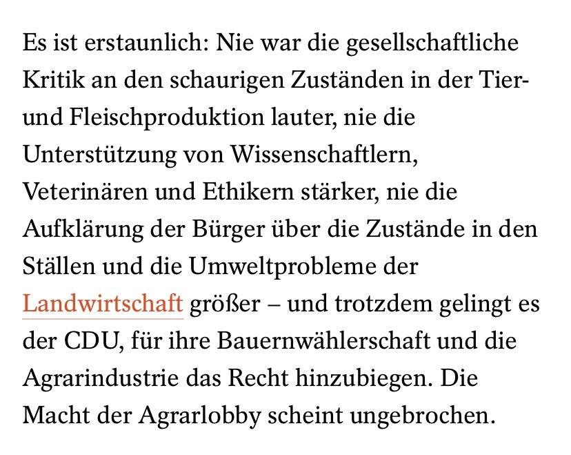 """Starke Analyse @derspiegel zum #Schweinekompromiss"""", den CDU, CSU und Grüne am morgigen Freitag im Bundesrat durchsetzen wollen. Spoiler: Sauen haben Pech gehabt, Austrecken is nicht.   https://t.co/xjjoRjeq0t https://t.co/r8stDhWyBa"""