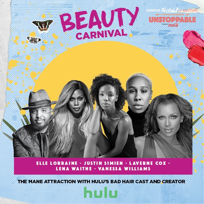 Join the creator and cast of the Hulu Original Film #BadHairMovie, at #EssenceFest for The Mane Attraction, TOMORROW at 6:30pm EST. Watch here: https://t.co/RUIv4rPjGr https://t.co/B0SZlIacRu
