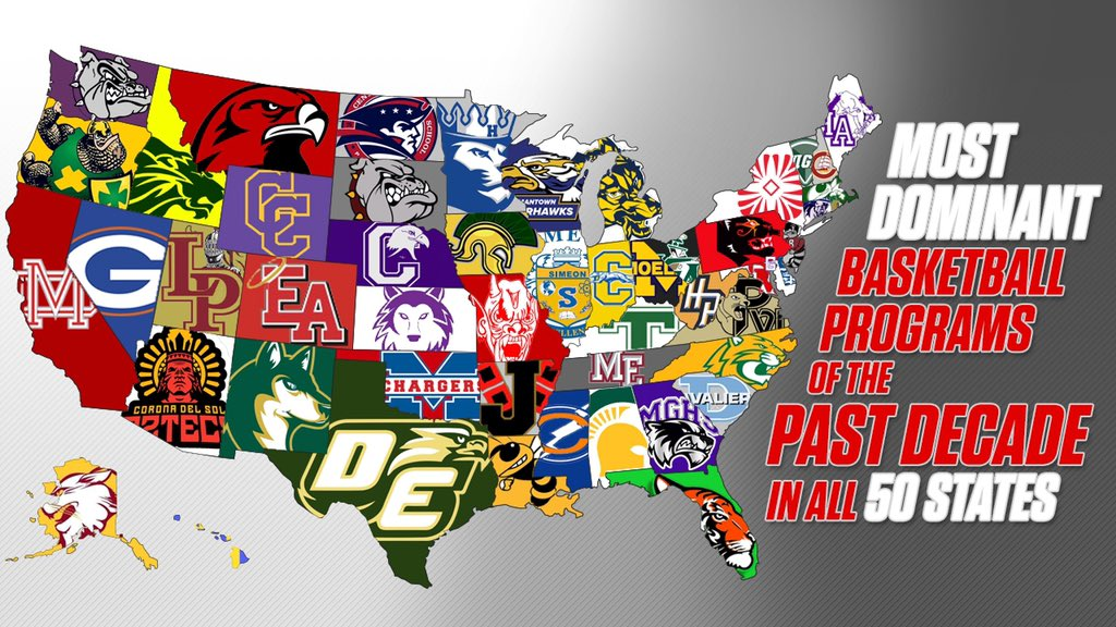 Most dominant basketball programs of the past decade in all 50 states.🏀⬇️  ✍️🎥https://t.co/9kqXDGWEdw https://t.co/dls8n7rA8k