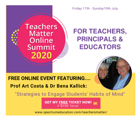 Excited to be speaking at the Teachers Matter Online Summit! 3 days, 27 speakers, 3 themes: Pedagogy, Leadership and Wellbeing.   If you are a teacher, principal, educator or parent there is something here for you. Claim your FREE ticket here: https://t.co/825OCcTgz2 #education https://t.co/ls9VPXqe5Q