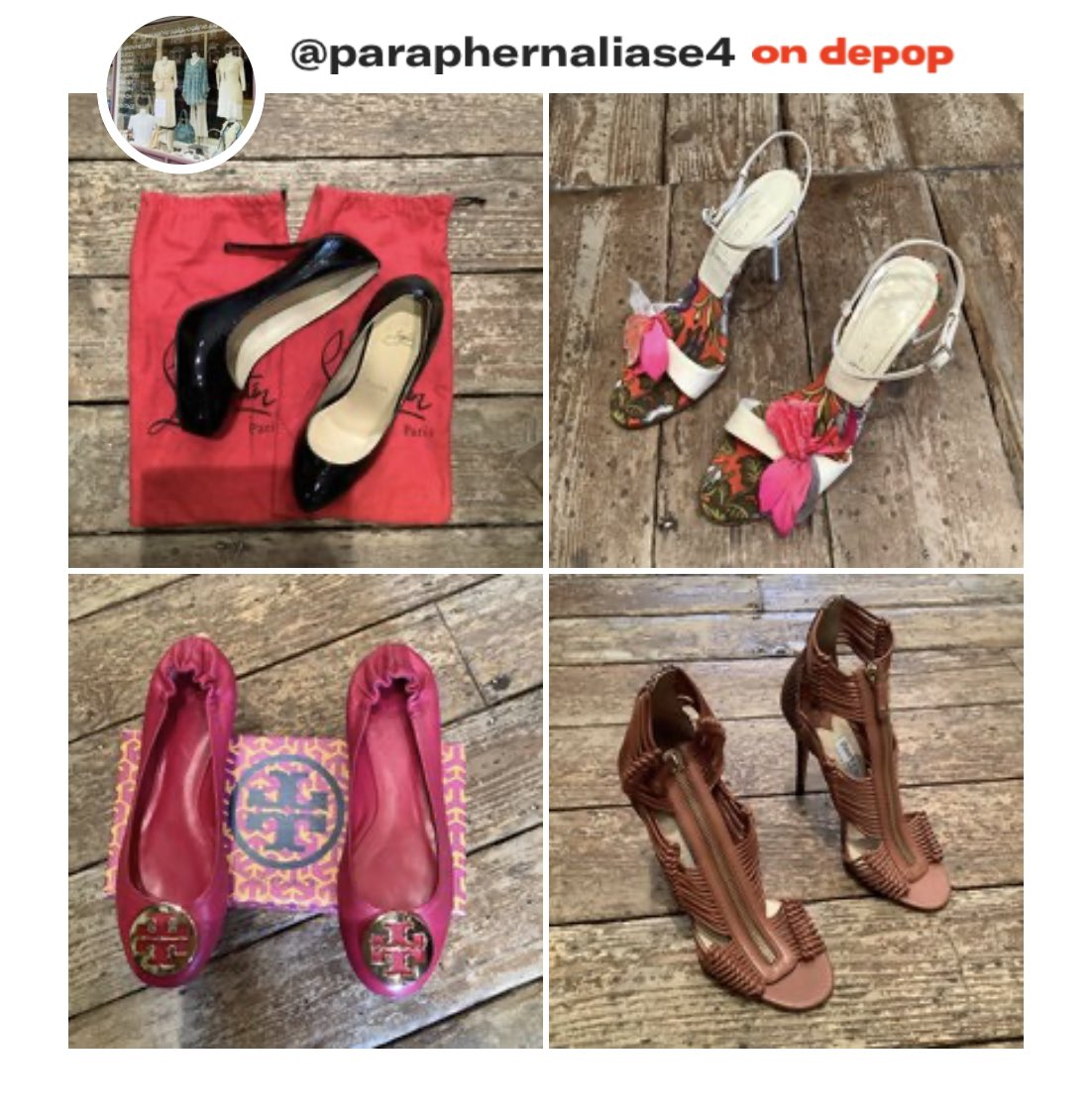 New #designer shoes and boots added onto our website today (link in bio) and #Depop @paraphernaliase4  #shoponline #shopdepop #fashion #shopping #vintage #samples #jimmychoo #burberry #toryburch #christianlouboutin #tommyhilfiger #armanipic.twitter.com/RyAEffYkhA