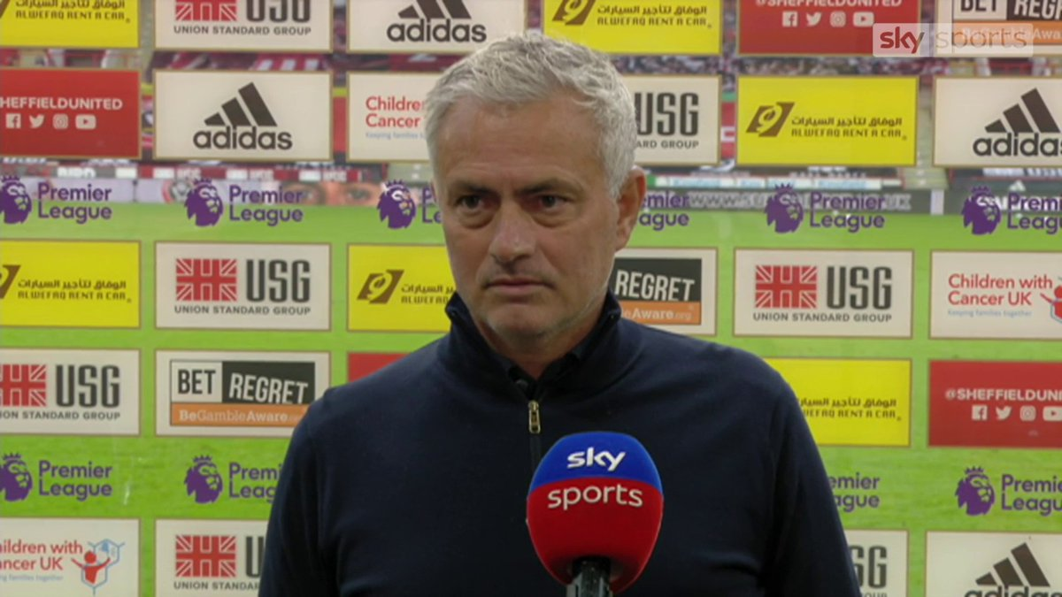 The referee is not here, hes hidden. 😠 Jose Mourinho was *NOT* happy with VAR after Tottenhams 3-1 defeat away at Sheffield United, saying that the referee on the pitch is no longer a referee. 😳