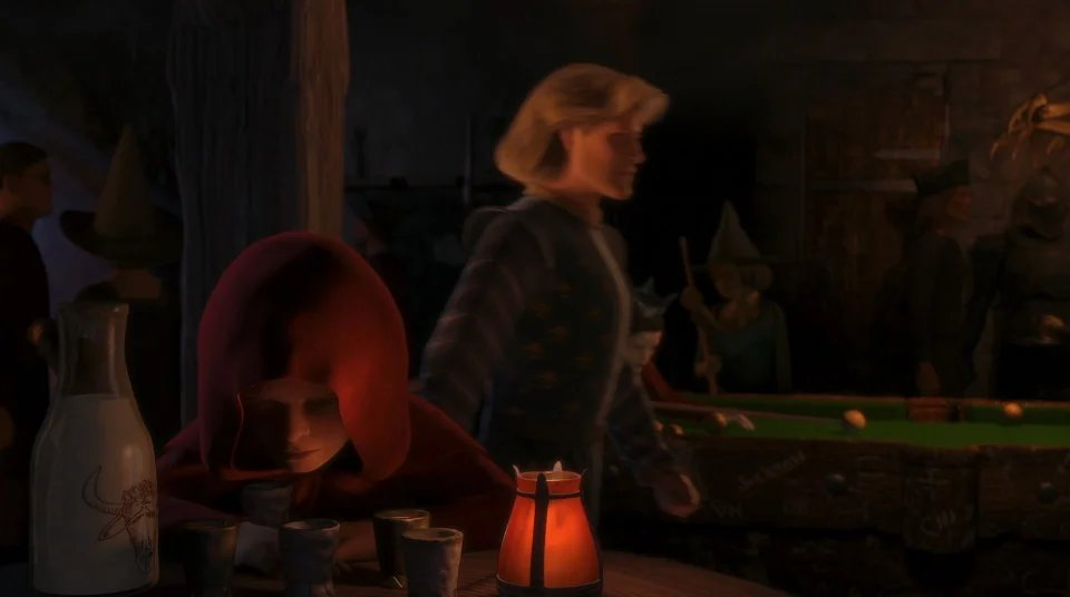 Hidden Easter Eggs On Twitter In Shrek 3 2007 Little Red Riding Hood Can Be Spotted In The Poison Apple Siding With The Villains This Is Because The Big Bad Wolf Sided