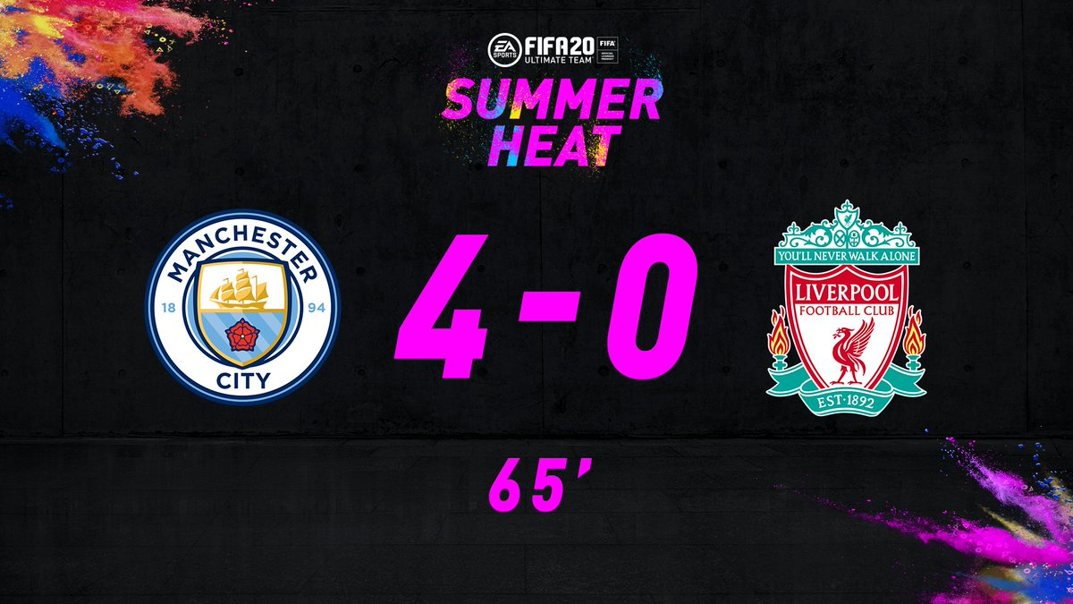 A masterclass of counter attacking football 🤯 @ManCity expand their lead to 4-0 via an Oxlade-Chamberlain own goal. GGs to those who completed the 92 Phil Foden #SummerHeat☀️🔥 Special Item SBC! Looking like its well on its way to a +3 OVR future upgrade. 🙌