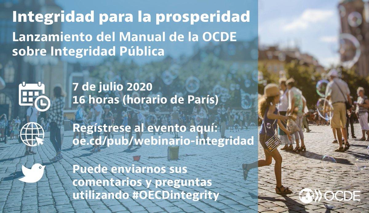 La gobernanza resiliente necesita #integridad- pero ¿cómo funciona en la práctica? Si quiere saber más, participe del webinario de la OCDE el próximo 7 de julio a las 16 horas (horario de París) Regístrese al evento aquí: https://t.co/va3AEyIS53 https://t.co/looMEh5nJd
