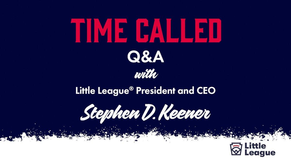 Were live with @littleleagueceo Steve Keener for a Q&A on our Facebook page: facebook.com/littleleague/l…
