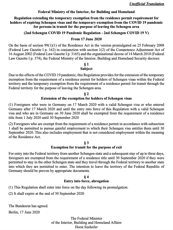 Attn 🇮🇳 nationals in Schengen countries other than 🇩🇪 taking #VandeBharatMission flight from Frankfurt! Transit Visa is NOT needed for entry in 🇩🇪 if your stay was permitted in the Schengen country. Pls carry a copy of this Regulation during transit in 🇩🇪 bit.ly/2ByrFEX