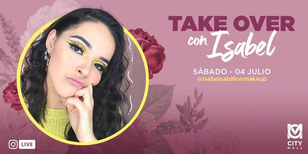 ¿Quieres los mejores tips de maquillaje y cuidado personal? 😍 Acompáñanos este sábado 04 de Julio en el #TakeOver con Isabel Sabillón y regálate un día especial para ti ✨🥰🧖♀️   #CityMallHND https://t.co/BRLhdBSt09