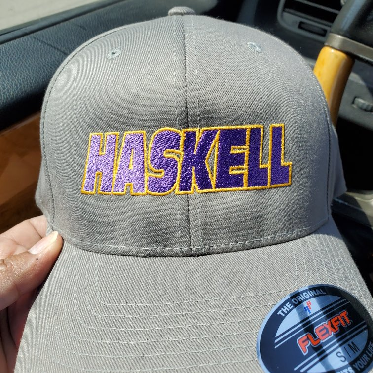 Hats came out great! #OnwardHaskell💜💛 https://t.co/GkIqPBRwRX