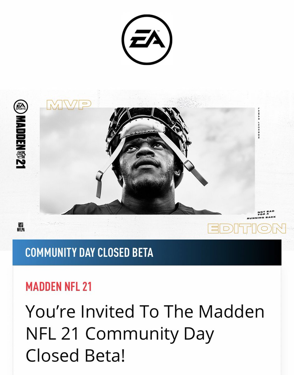 RETWEET & FOLLOW  (so I can DM code)  For a chance at a #Madden21 BETA CODE! I have 10 Xbox and 10 PS!   Beta info: https://t.co/y5BgzQpXxo https://t.co/r1dBO7gGyw