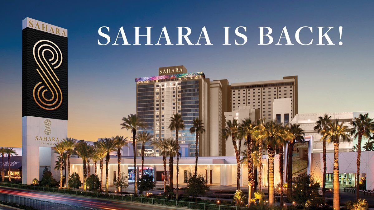 Ready for a Vegas escape? @SAHARALasVegas is open! You get a free room upgrade, no resort fees, free parking, and more when you book using code RADIO: https://t.co/ln8RQYlS8g #ForTheLoveOfVegas https://t.co/11buApT8oO