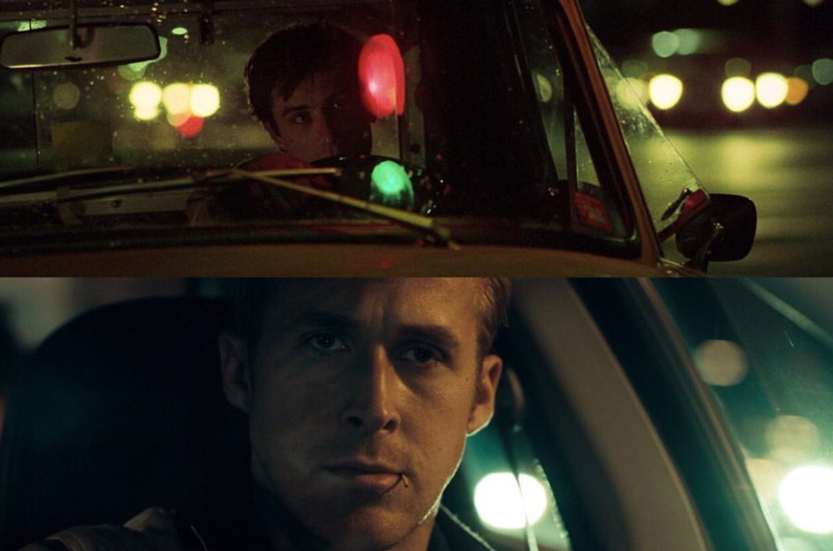 cinematic parallels   Taxi Driver 1976 Drive 2011  #TaxiDriver #Drive pic.twitter.com/yaUejPGdKY