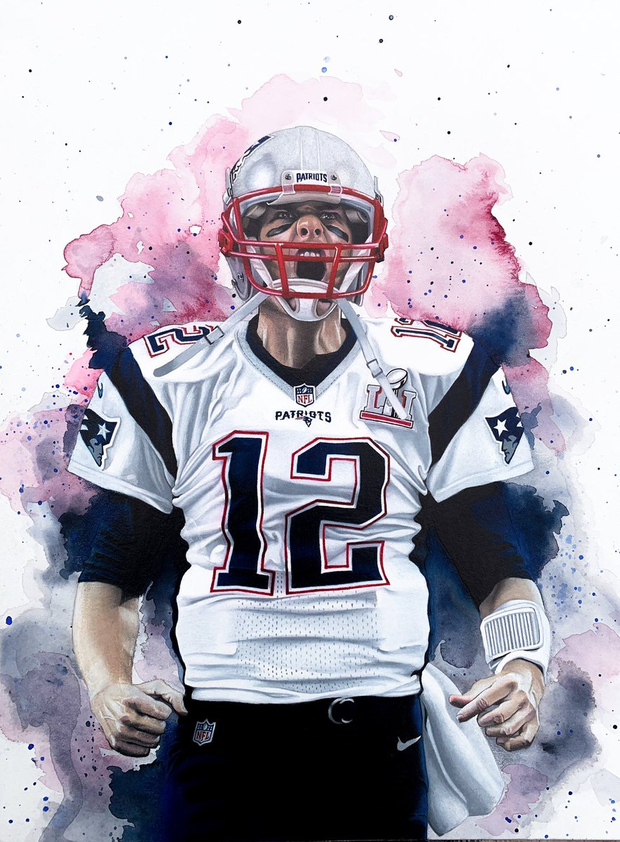 My 11x14 mixed media drawing of the , Tom Brady! I cannot picture him in another uni. DM me to get your LE print of Tom Terrific! http://Kenkarlsportsart.com  #tombrady #Patriots #sportsart #mancaveartpic.twitter.com/5jRN7kjraJ