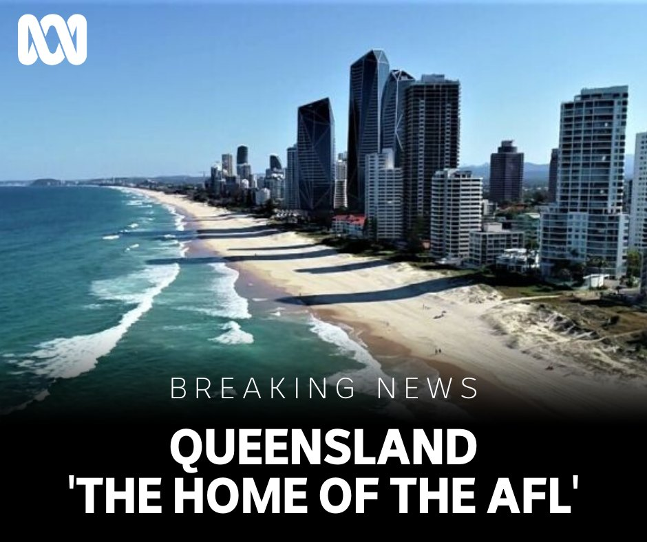 #BREAKING  🏟️ St Kilda, North Melbourne, Essendon, Western Bulldogs, Richmond and Carlton will relocate to Queensland for the rest of the @AFL season.  ☀️ QLD Premier Annastacia Palaszczuk says four teams will be based at Gold Coast and two at Sunshine Coast. More to come. #AFL https://t.co/lduOL7OWTX