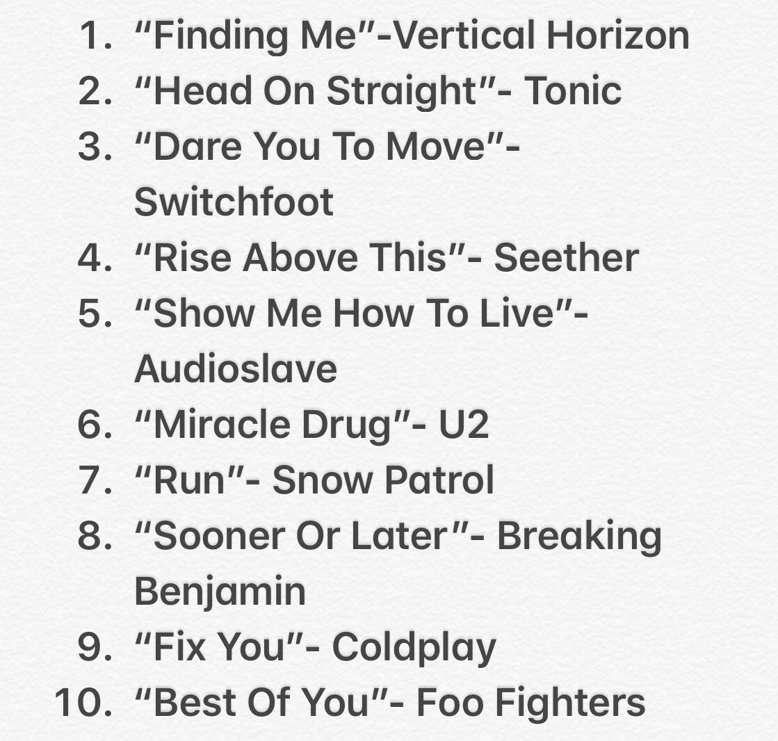 On a lighter note, and for no reason whatsoever, here are ten songs which got me from 2000-2010.