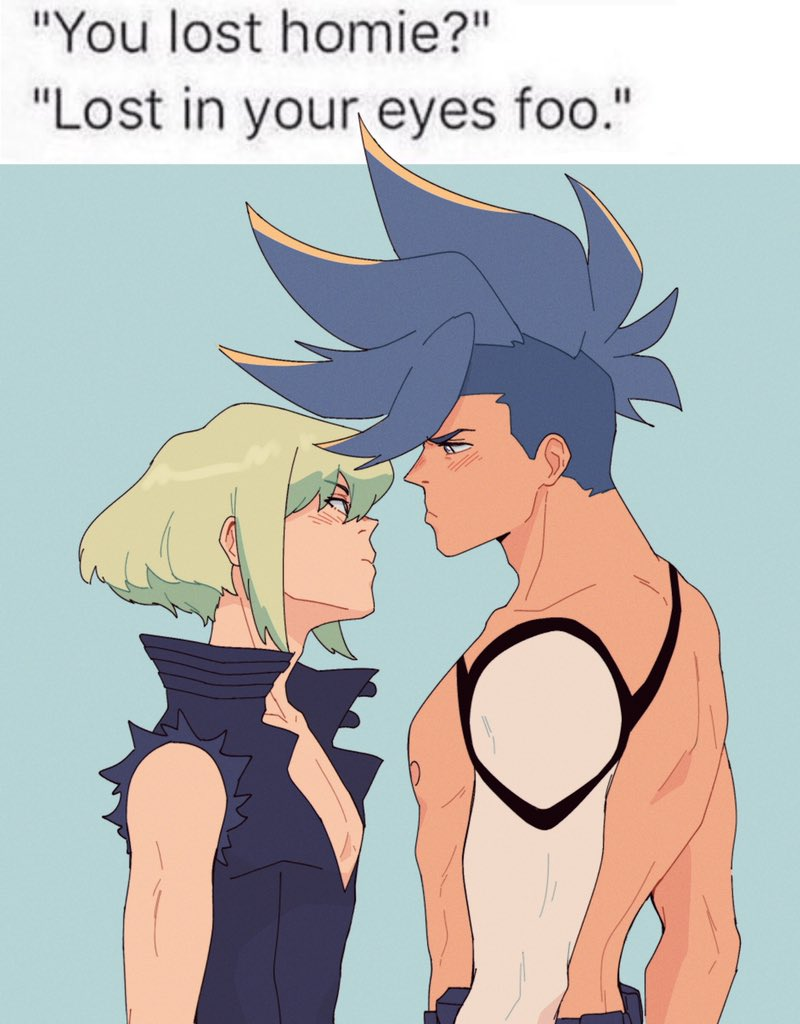 boys, the world is literally on fire #promare #galolio
