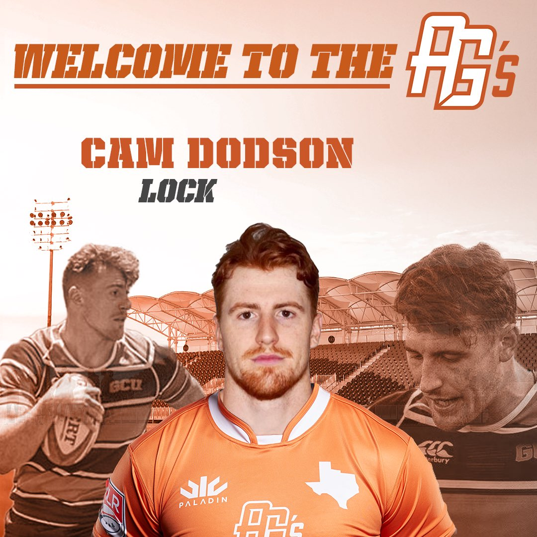 """Austin family, please welcome Cam Dodson! 6'7"""" 245lbs lock out of @gcurugby.  💥Coach Harris says, """"He's a specimen, a very exciting prospect.""""🗯  📰>> https://t.co/BQE7hmMhtH https://t.co/MLhzydKaSB"""