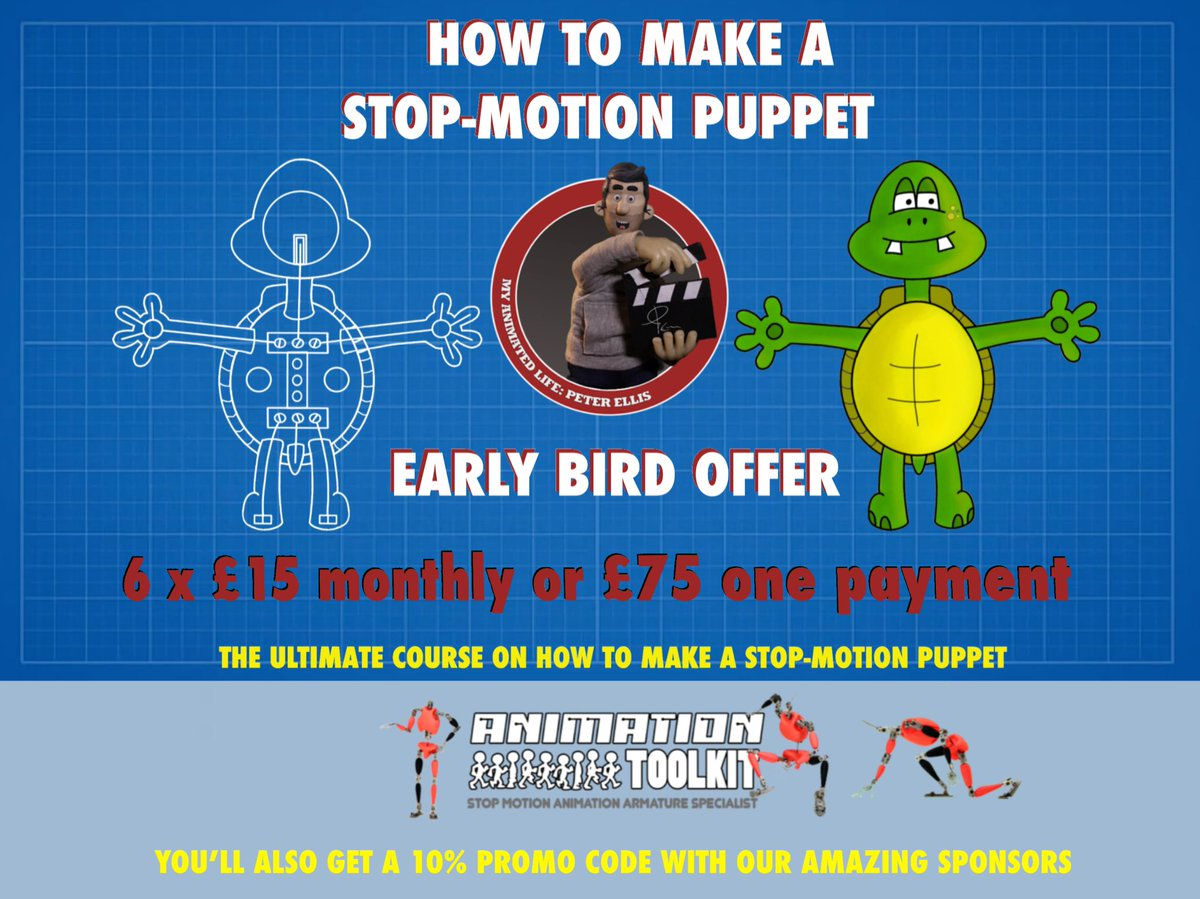 Oh I'm so excited to share this with you all. * * It's now available as an early bird offer. You've got less than 10 days before it goes full price * * #stopmotionanimation #stopmotion #animation #stopframe #stopmotionvideo #animatedvideo #stopmotionpuppet #stopmotioncourse<br>http://pic.twitter.com/Vb64WTO8hK