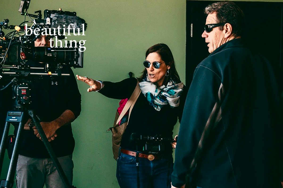 Director/Olympic rower @marymazzio filming #AMostBeautifulThing telling @TeamUSA rowing coach Mike Teti how things are going to go down. Or else. 📸@claytonhauck. Narrated by @common w/EPs @realgranthill33 @DwyaneWade @9thwonder. In @AMCTheatres 7/31. https://t.co/qAqNfb66EI https://t.co/u5BfECJNGN