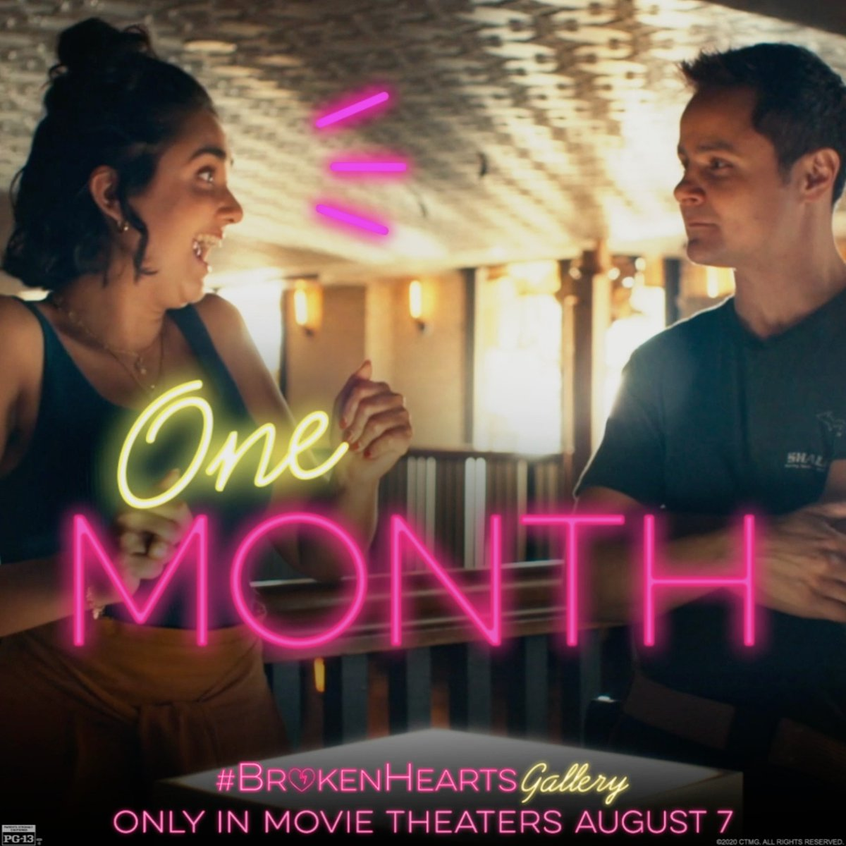 I can smell the popcorn already. 🍿😍 The #BrokenHeartsGallery is coming to movie theaters in ONE MONTH! 🎥🎟