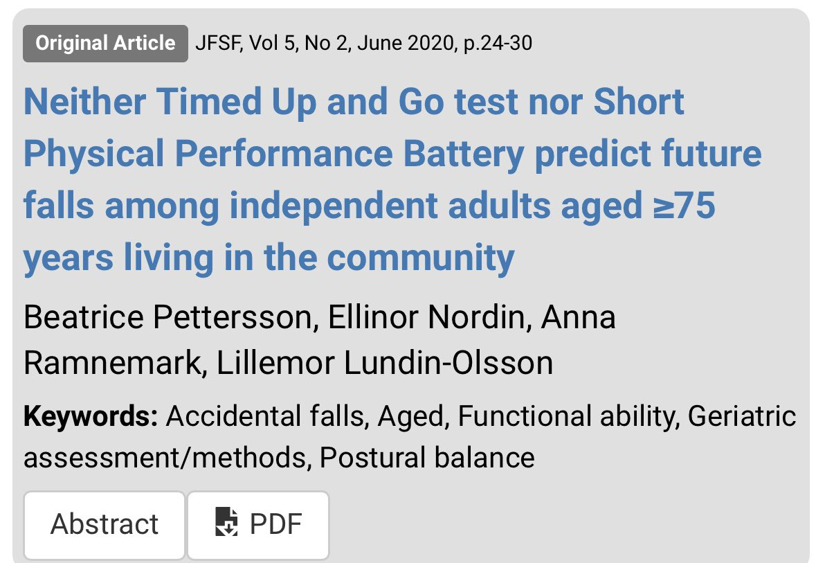 test Twitter Media - Normal predictors of falls in those <75 seem not to be appropriate for >75s? June issue is out. Open access. https://t.co/nUf6WVbjCY #falls #physicalfunction @EuFallsFestival @UmeaUniversity https://t.co/4hodD3ykMx