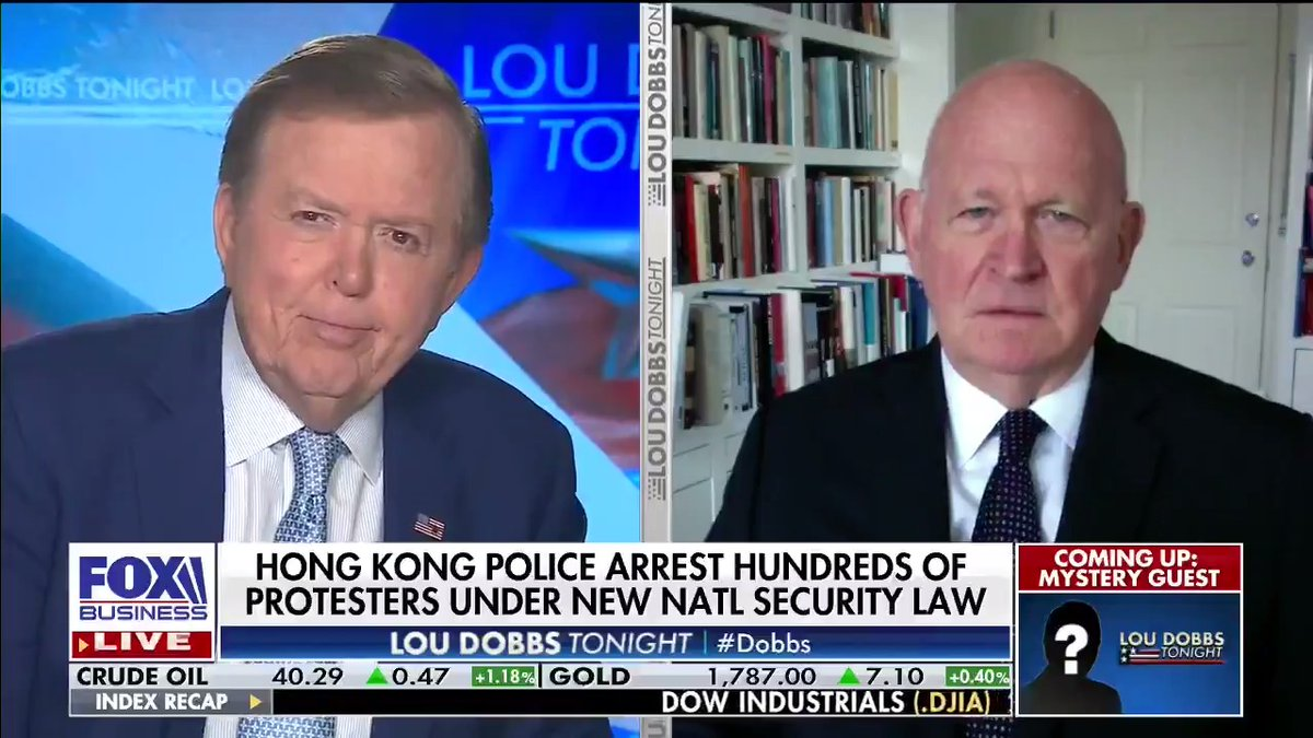 Standing up to China: @MikePillsbury calls for more pressure on China for its actions in Hong Kong. #AmericaFirst #MAGA #Dobbs