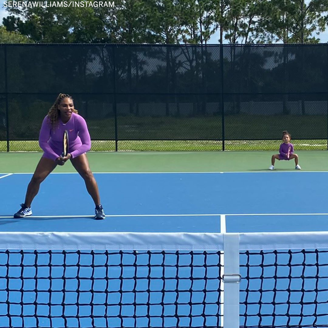 Serena and Olympia playing tennis together is the cutest thing we've ever seen ♥️  (via @serenawilliams) https://t.co/nvfrOgt5In