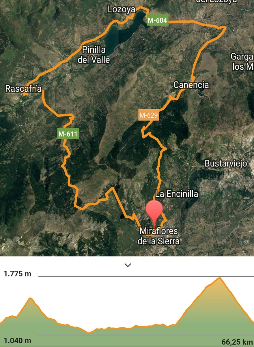 #Miraflores #Canencia #Morcuera #Miraflores 66km pic.twitter.com/U6UWKb6slJ