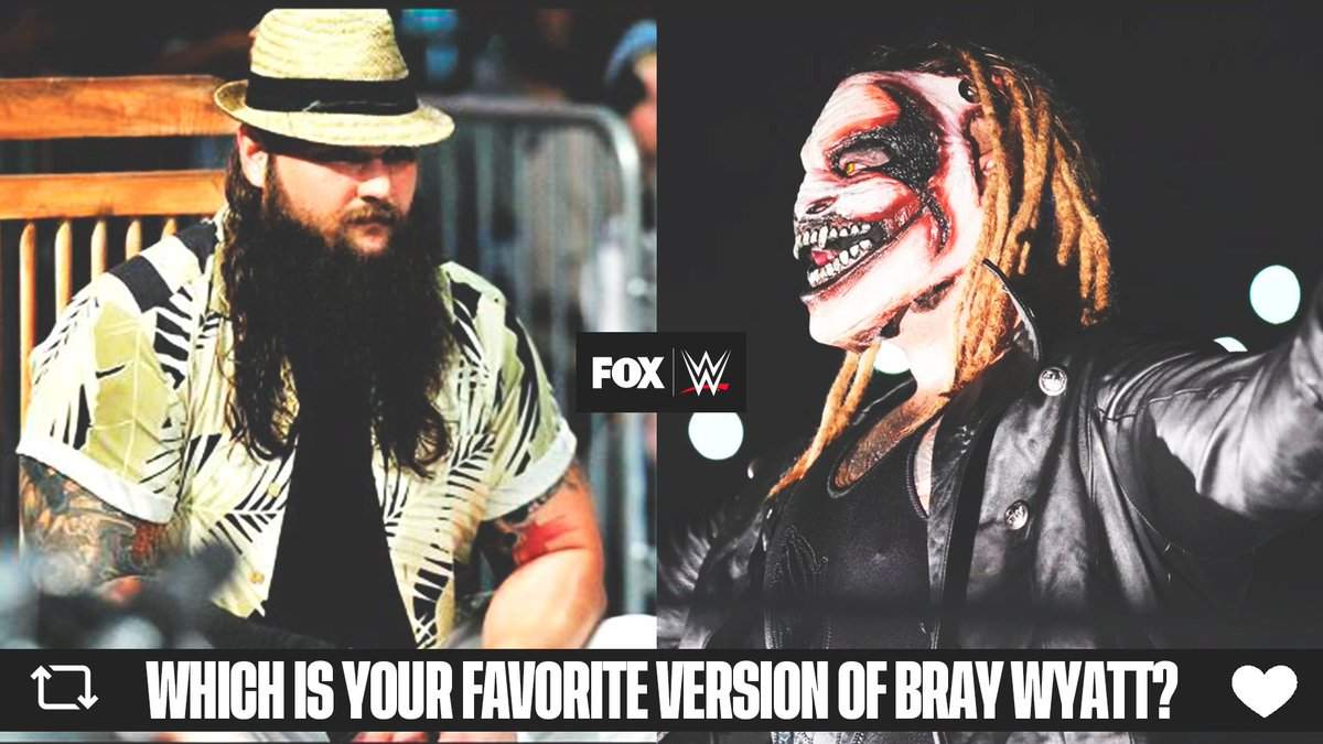 Which version of @WWEBrayWyatt is your favorite?   Follow The Buzzards  Let Him In pic.twitter.com/8w3k0l6uRa