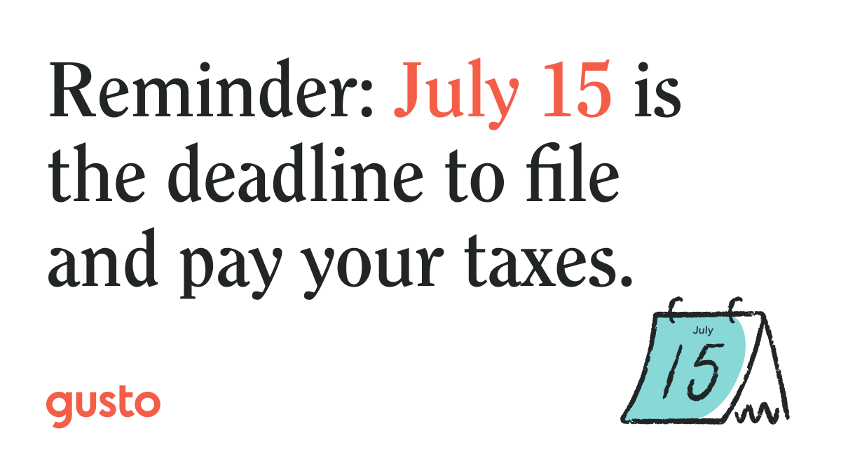 Reminder: If your original federal tax deadline was April 15, your new deadline is July 15.   Still need more time to file these taxes? Fill out Form 4868 or Form 7004 by July 15 and if you're approved, your new tax filing date will be Oct. 15, 2020: https://t.co/LaEbhQT3qi https://t.co/AoWK7gWaye