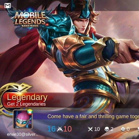 #mobile #legend  Legendary with zilongpic.twitter.com/aRmhSN6tOZ