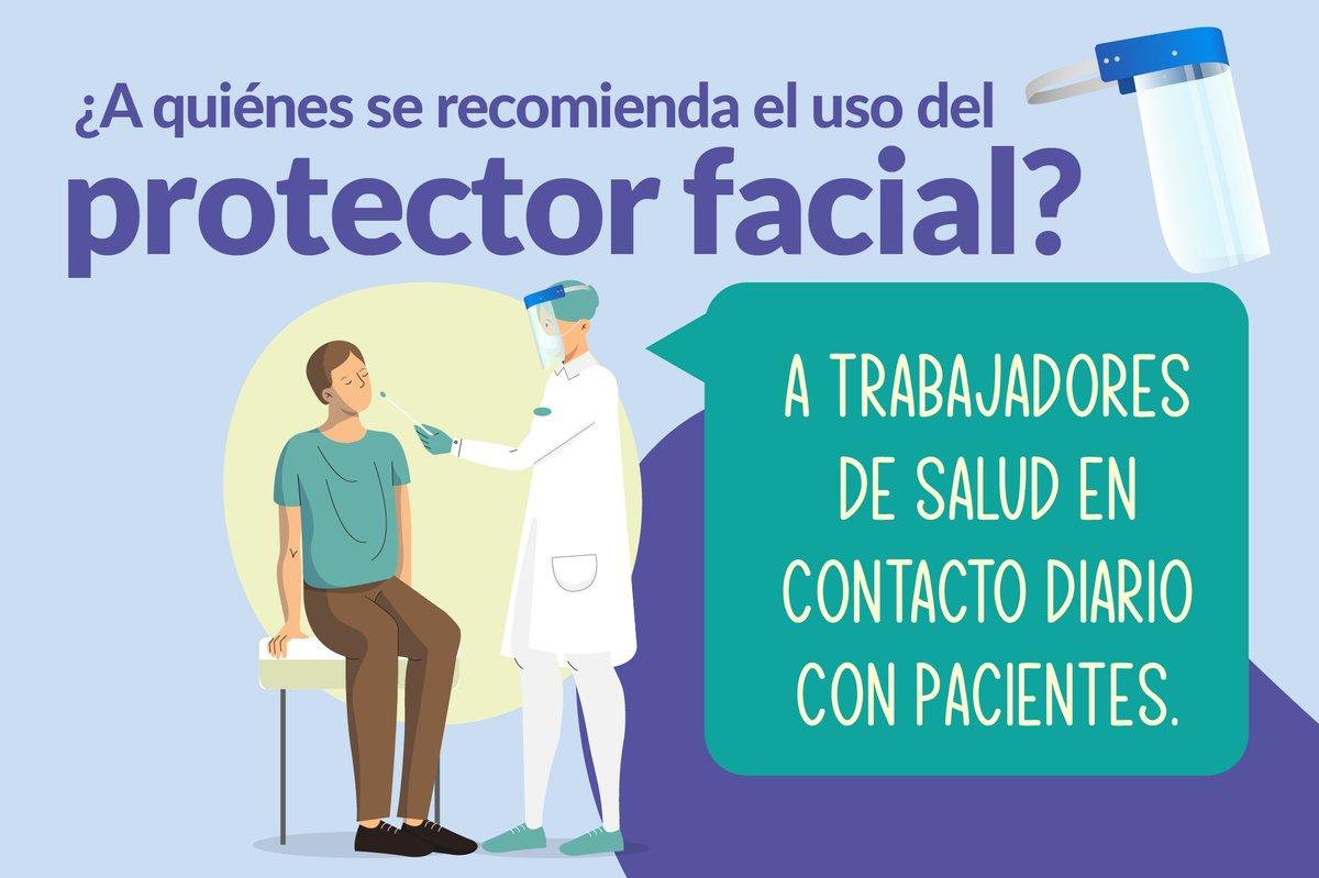 #PrimeroMiSalud | ¿Sabes si debes usar protector facial? Infórmate al respecto y protégete del #COVID19.  Más información: https://t.co/POLsqMm4TY https://t.co/Rp32t4M085