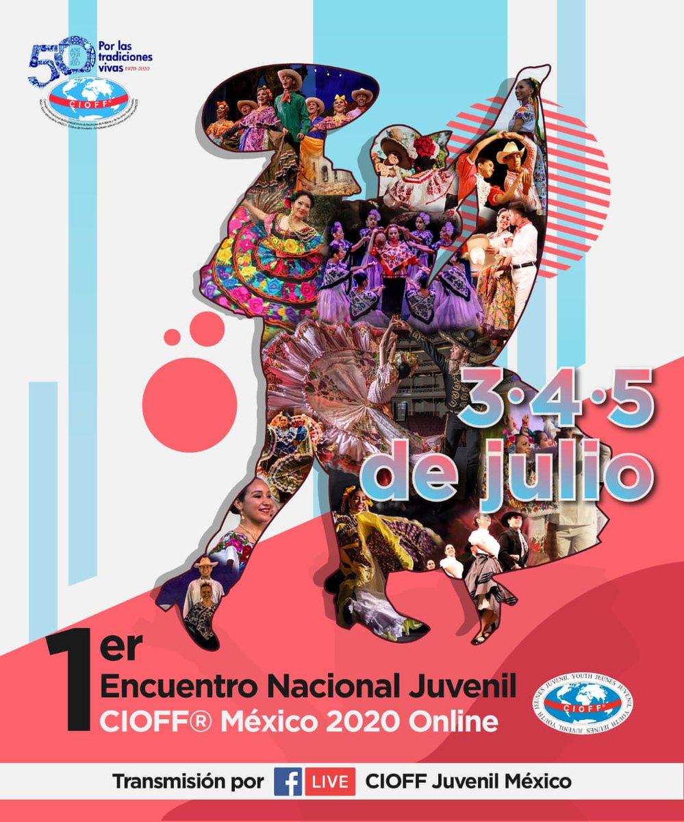 No te pierdas nuestra participación en el 1er encuentro  nacional juvenil #CIOFFMéxico 2020. Nos representara el grupo intermedio con #Yucatán. No te lo pierdas #FacebookLive  domingo 5 de julio  #CIOFFjuvenilMexico #CJDFM #somosCIOFF  #SomosComunidad  #Contigoaladistancia https://t.co/Kuc3PAvNlU