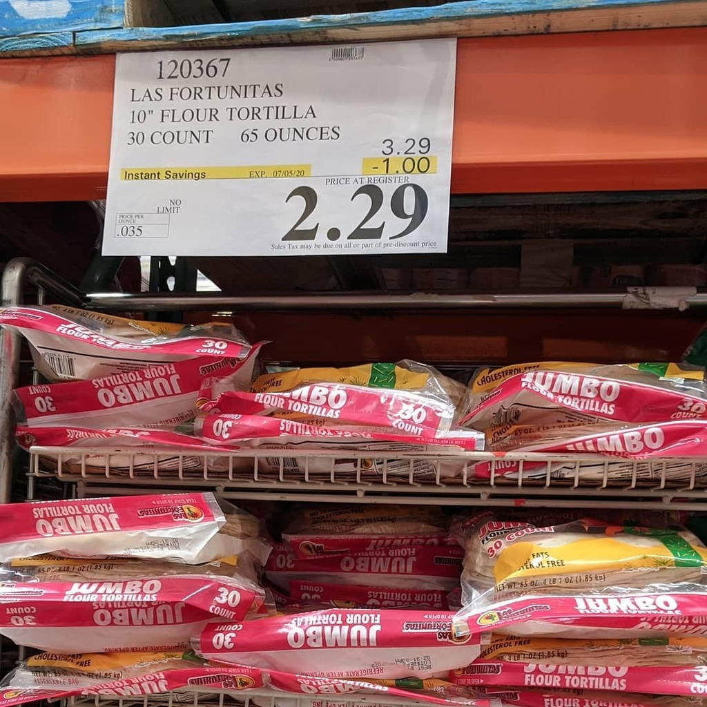 Olli On Twitter Lasfortunitas 10 Flour Tortillas 30 Pack 1 Rebate Till 07 05 20 Costco Https T Co Iqi0wsderb