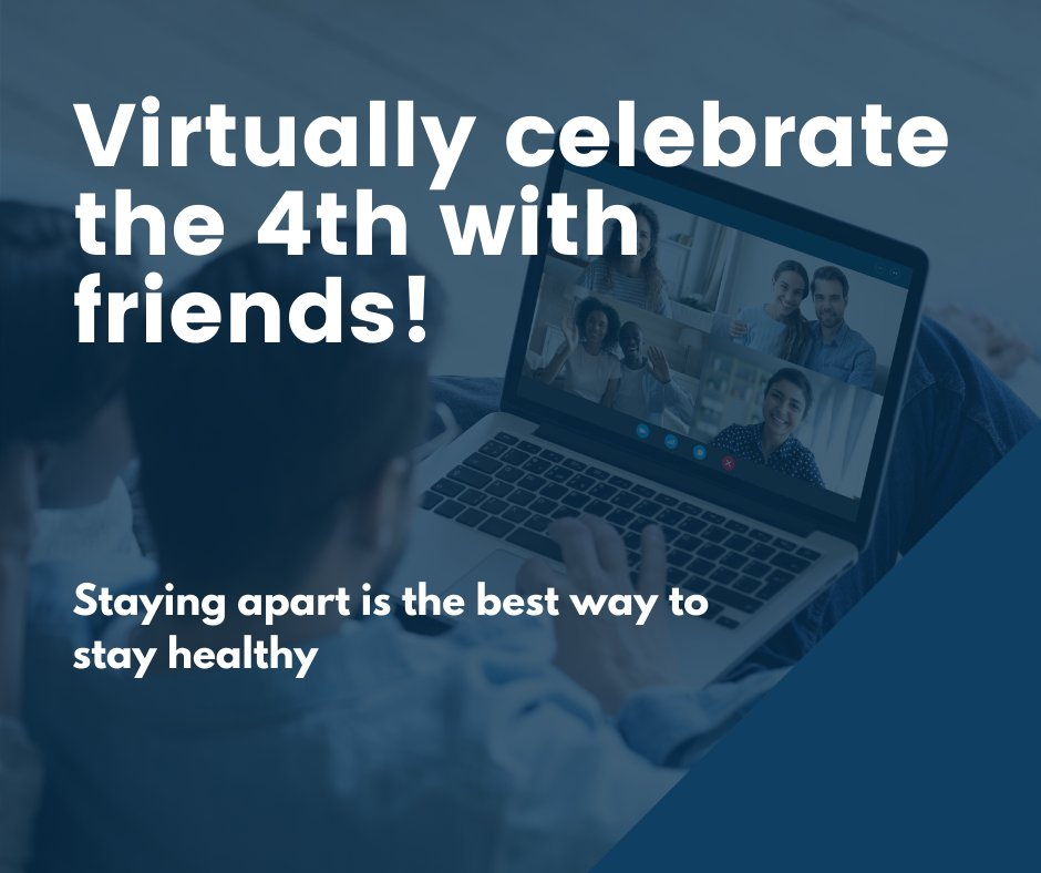 We know it's hard to not be with friends & family during the holiday weekend but right now, staying apart is the best way to stay healthy. Virtually celebrate w/ your friends w/ a toast to America using your favorite video chat app. Stay safe & healthy & celebrate responsibly. https://t.co/1kTapM9YCb
